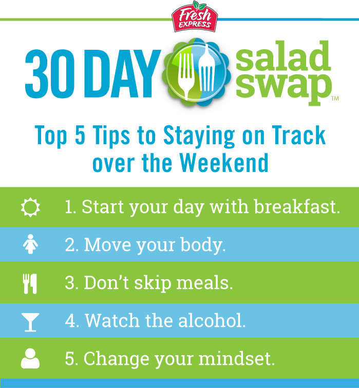 Top 5 Tips to Stay on Track Over the Weekend